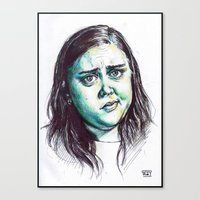 my mad fat diary Canvas Prints featuring My Mad Fat Diary - Rae Earl by Sara (aka Wisney)