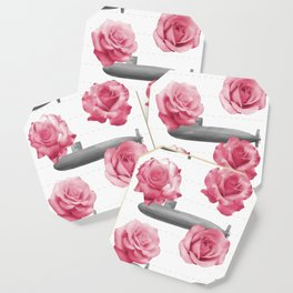 Subs and Roses Coaster