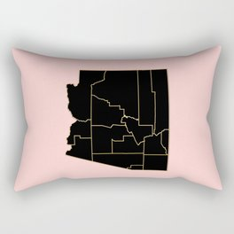 Arizona map Rectangular Pillow