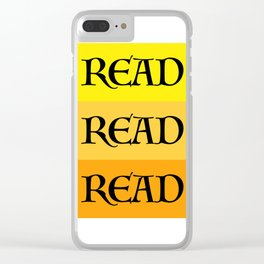 READ READ READ {YELLOW} Clear iPhone Case