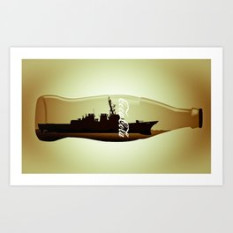 Destructor impossible bottle Art Print