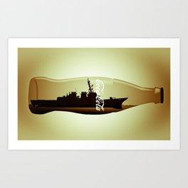 Destructor impossible bottle Art Print