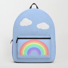 Dripping Pastel Rainbow Backpack