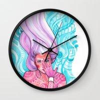 luna Wall Clocks featuring Luna by Verismaya