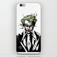 the joker iPhone & iPod Skins featuring Joker. by CJ Draden