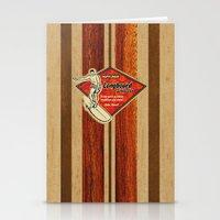 surfboard Stationery Cards featuring Waimea Hawaiian Surfboard Design by Drive Industries