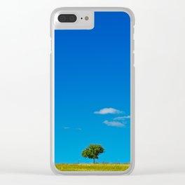 Simple Blue Sky Gradient Landscape Clear iPhone Case