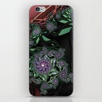 novelty iPhone & iPod Skins featuring Lilac Fractal Garden by Moody Muse