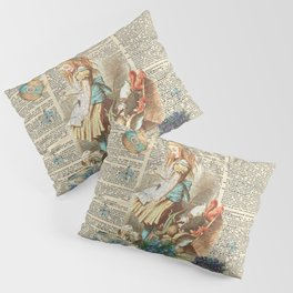 Vintage Alice In Wonderland on a Dictionary Page Pillow Sham
