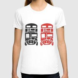 London bus linoprint T-shirt