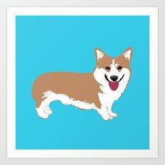 Smiling Corgi Dog Art Art Print
