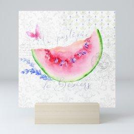 La Pastèque de Béziers—Watermelon and Lavender, Provence Mini Art Print