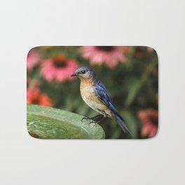 Perched Eastern  BlueBird Bath Mat
