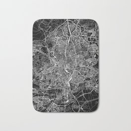 Madrid Black Map Bath Mat