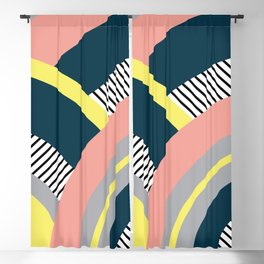 Colorful geometry 10 Blackout Curtain
