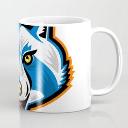 North American Raccoon Mascot Coffee Mug