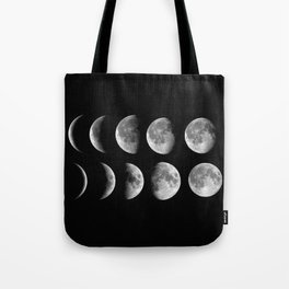 Phases (black) Tote Bag