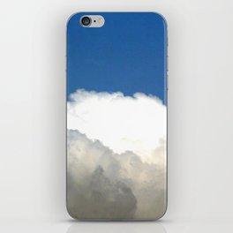 Grey Clouds Blue Sky iPhone Skin