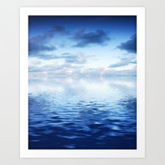 Blue ocean #reflection Art Print
