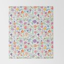 Colorful Whimsical Watercolor Flowers Pattern by sukilopi