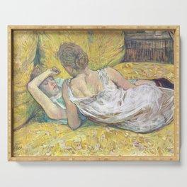 """Henri de Toulouse-Lautrec """"L'abandon (Les deux amies)"""" Serving Tray"""