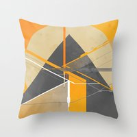 pyramid Throw Pillows featuring Pyramid by ErDavid
