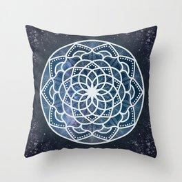 Galaxy Mandala Throw Pillow