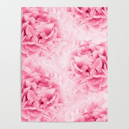 Light Red Peonies Dream #1 #floral #decor #art #society6 Poster