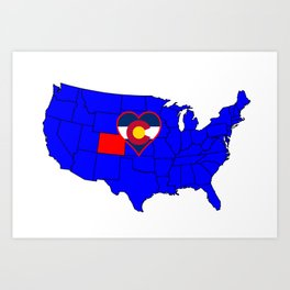 State of Colorado Art Print