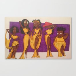 Libby, Connie, Penny, Abigail, and Susie x Hercules Muses Canvas Print