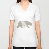 california V-neck T-shirts featuring California by AmDuf
