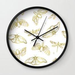 Golden Wings Wall Clock