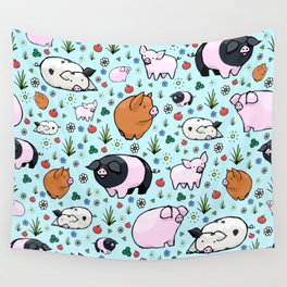 Cute Pigs Wall Tapestry