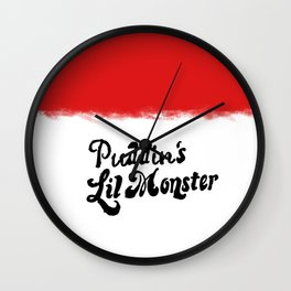 Puddin's monster Wall Clock