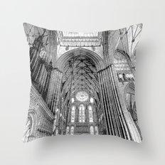 York Minster Art Sketch Throw Pillow
