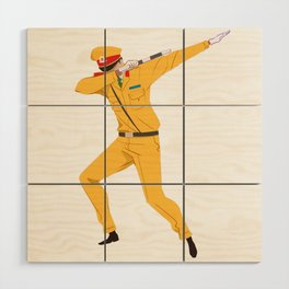 Vietnamese Traffic Cop Dab Wood Wall Art