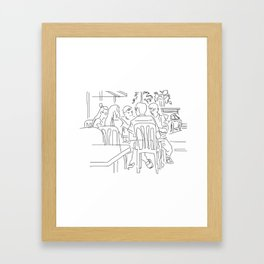 Finger Drawing 93 - Colleagues Framed Art Print