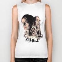 bill Biker Tanks featuring Kill Bill by RJ Artworks
