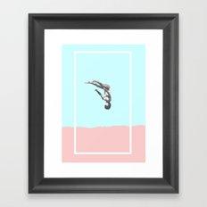 Head First Framed Art Print