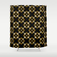 floral pattern Shower Curtains featuring Floral Pattern by Christina Rollo