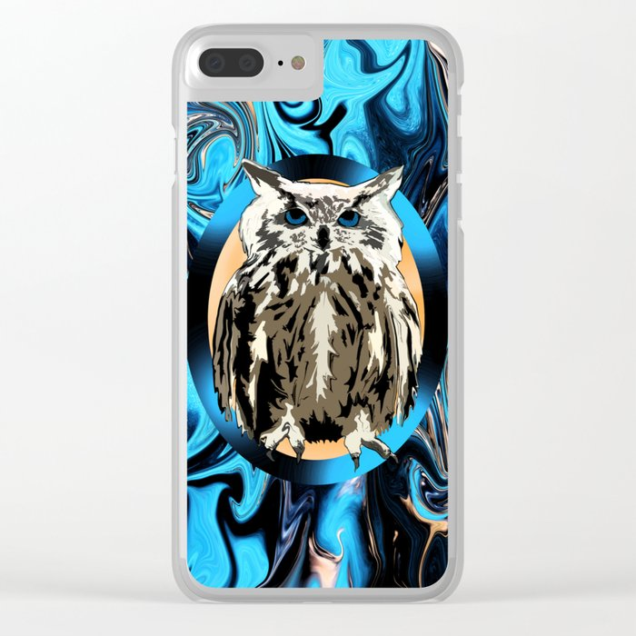 Burn the Midnight Owl Clear iPhone Case