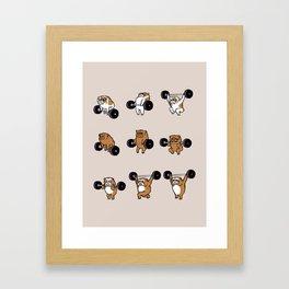 OLYMPIC LIFTING English Bulldog Framed Art Print