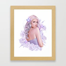 Lady Amethyst Framed Art Print