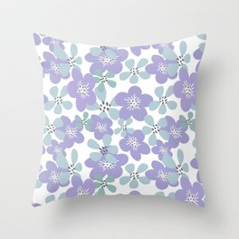 Maya Periwinkle Throw Pillow