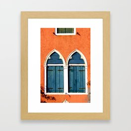 Blue View Framed Art Print