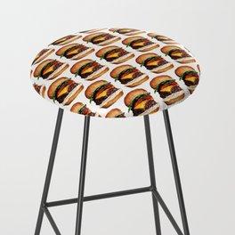 Cheeseburger Pattern Bar Stool