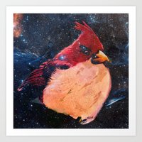 angry bird space  Art Print