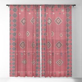 Azeri South Caucasus Azerbaijan Flatwoven Cover Sheer Curtain