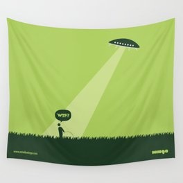 WTF? Ovni! Wall Tapestry