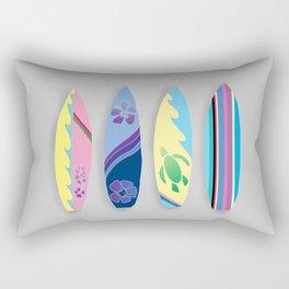 Four Surfboards Rectangular Pillow